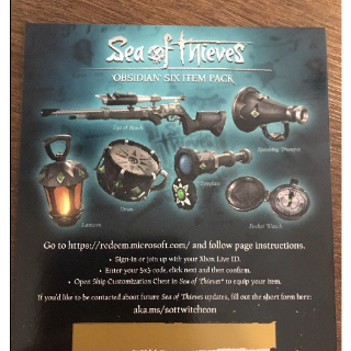 Sea of Thieves Obsidian Six Item Pack DLC CODE !