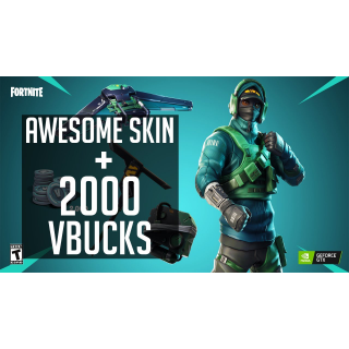 Fortnite GTX NVIDIA  Counterattack Set and 2000 V-Bucks PC ! READ DESCRIPTION ! U MUST HAVE GTX CARD!