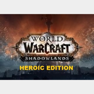 World Of Warcraft Shadowlands HEROIC Code  US Oceania REGION . Instant Delivery