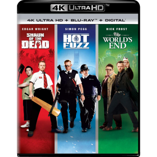 Shaun of the Dead & Hot Fuzz & The World's End 4K UHD Movies Anywhere (INSTANT)