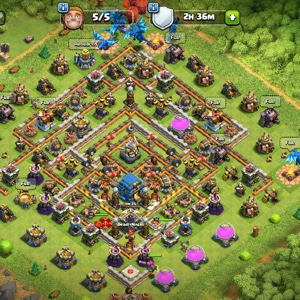 Clash of clans th12 with good heroes and almsot maxed all troops