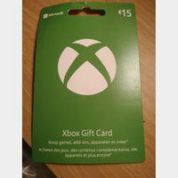 €15.00 Xbox Gift Card