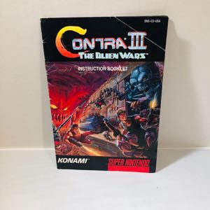 Contra the alien wars 3 Manual Only