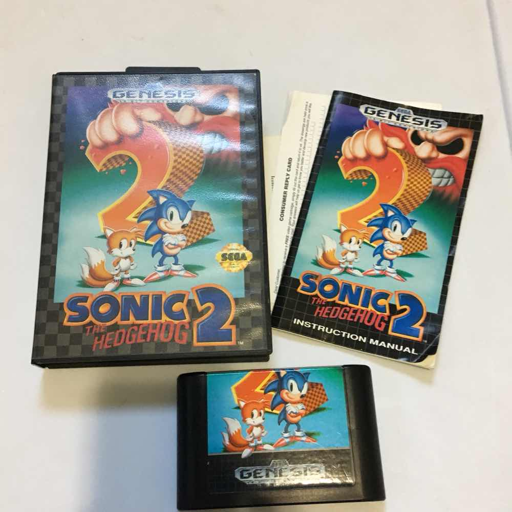 Sonic The Hedgehog 2 Sega Genesis Cib Sega Genesis Games Good Gameflip
