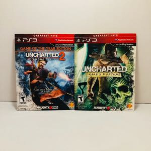 Uncharted 1 and 3 not for resale PlayStation 3 ps3