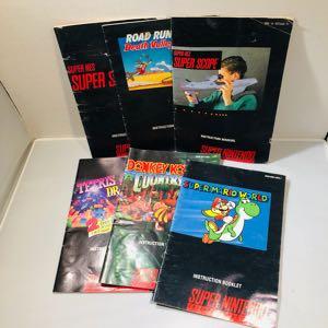 Super Nintendo manuals snes