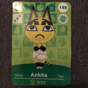 Ankha Animal Crossing Amiibo Card