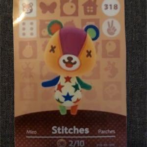 Stitches Animal Crossing Amiibo Card