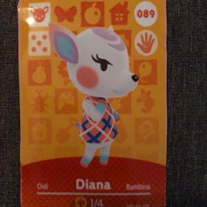 Diana Animal Crossing Amiibo Card
