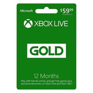 12 Month Xbox Live Gold Membership