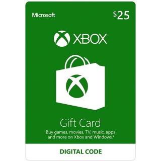 $25 Xbox Gift Card