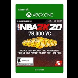 NBA 2K20: 75,000 VC - Xbox One Digital Code