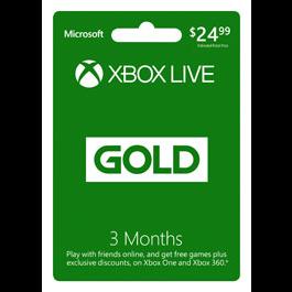 3 Month Xbox Live Gold Membership