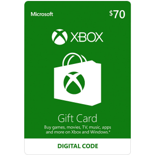 $70 Xbox Gift Card - Digital Code