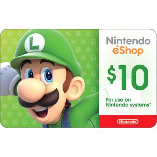 $10.00 Nintendo eShop