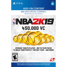NBA 2K19 - 450,000 VC