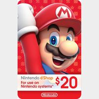 eCash - Nintendo eShop Gift Card $20 - Switch / Wii U / 3DS Digital Code