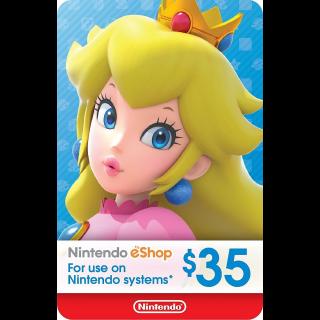 eCash - Nintendo eShop Gift Card $35