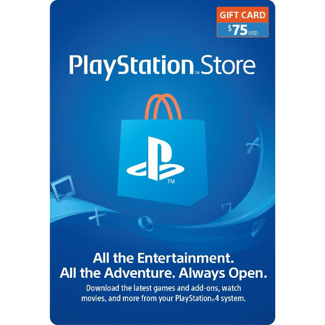$75 PlayStation Store Gift Card - Digital Code - PlayStation Store Gift