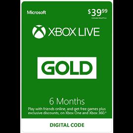 6 Month Xbox Live Gold Membership