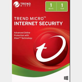 Trend Micro Internet Security 2018 1 Year 1 Device