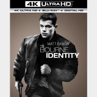 The Bourne Identity [4K UHD] iTunes ports MoviesAnywhere