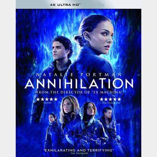 Annihilation [4K UHD] Vudu