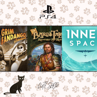 🔑Grim Fandango Remastered, The Bard's Tale, InnerSpace [PS4\InstantDelivery]