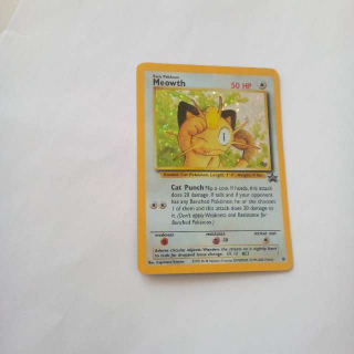 Holo Black Star Promo Meowth Pokemon Card