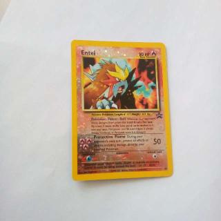 Holo Entei Black Star Promo Pokemon Card