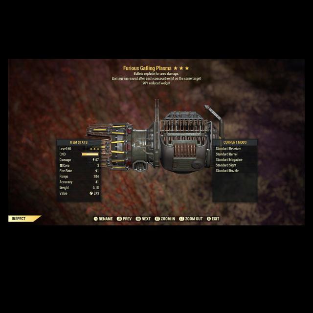 Weapon | Furious Explosive Gatling Plasma(READ DESC)