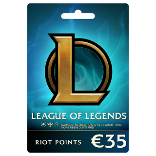League of Legends €35 Prepaid Gift Card (5000 Riot Points) EUW