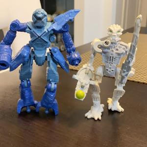 """Two Mech X-4 X4 Stealth 5"""" Robot Action Figures"""