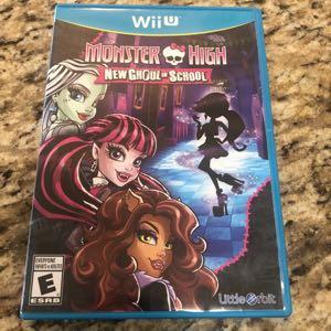Wii U Monster High New Ghouls In School