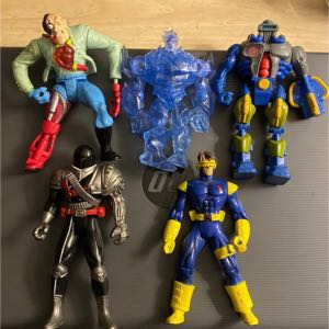 "Five 5"" and 6"" action figures"