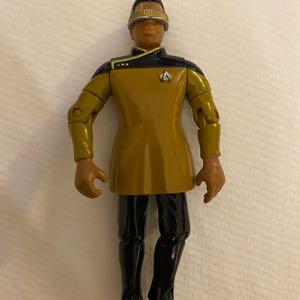 """1993 Lt Commander Geordi Laforge 4.5"""" Action Figure Star Trek Playmates Toys"""