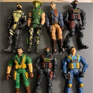 Seven 03-10 Lannard Action Figures The Corps