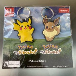 Nintendo Switch Pokemon Lets go - Eevee Pikachu, set of 2 Keychain