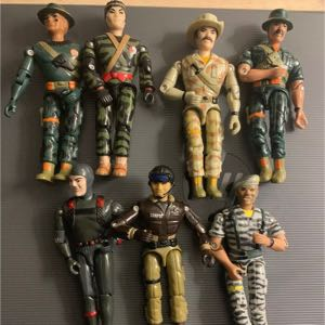 Seven Vintage 1986 LANARD The Corps Action Figures