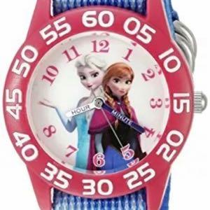 "Disney Infinity Frozen Elsa & Anna Kid's Quartz Watch ""time teacher "". NEW"