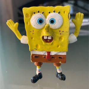 "3"" SpongeBob Squarepants Bendable Figure Nickelodeon -2005"