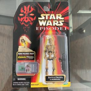 "1998 Star Wars: Episode I - BATTLE DROID 4"" Action Figure with Blaster Rifle"