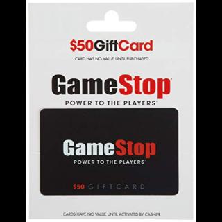 $50.00 GameStop