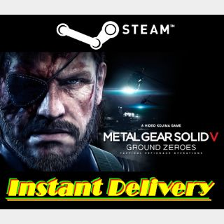 Metal Gear Solid V: Ground Zeroes - Steam Key - Region Free - Instant Delivery - RRP = $19.99