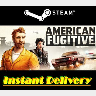 American Fugitive - Steam Key - Region Free - Instant Delivery - RRP = $19.99