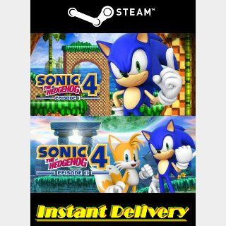 Sonic the Hedgehog 4: Episode I & II - Steam Keys - Region Free - Instant Delivery
