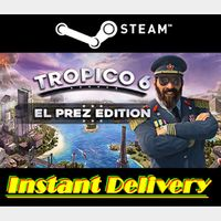 TROPICO 6 - EL PREZ EDITION - EU Steam Key - Instant Delivery - RRP = $54.99