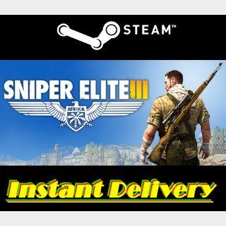 Sniper Elite III - Steam Key - Region Free - Instant Delivery