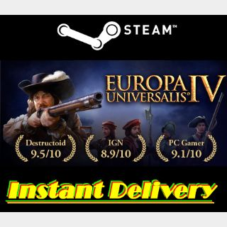 Europa Universalis IV - Steam Key - Region Free - Instant Delivery