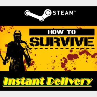 How to Survive - Steam Key - Region Free - Instant Delivery - RRP = $14.99